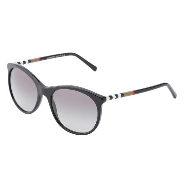8d56fcfdd5e8 Shop Burberry Women s BE4145 Slim Gradient Round Sunglasses - Free ...
