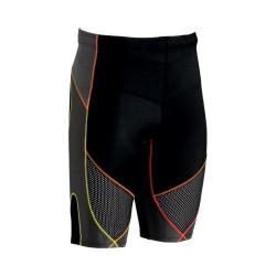 Men's CW-X Stabilyx Ventilator Shorts Black/Yellow/Orange