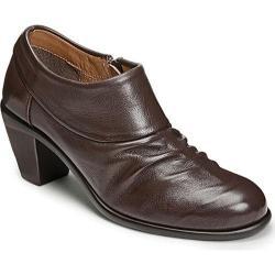 Aerosoles Women's Lock N Key Bootie Dark Brown Leather