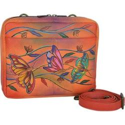 Women's Anuschka Crossbody Travel Organizer Angel Wings Tangerine