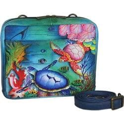 Women's Anuschka Crossbody Travel Organizer Ocean Treasures