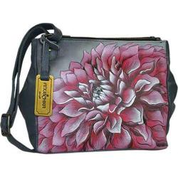 Women's Anuschka Triple Compartment Covertible Tote Dreamy Dahlias Pink