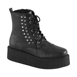 Men's Demonia Vegan Creeper 573 Platform Boot Black Vegan Leather