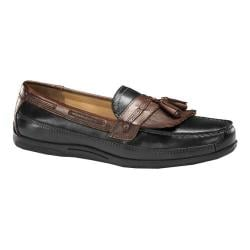 Men's Dockers Cayman Hamlin Loafer Black/Cognac Burnished Full Grain
