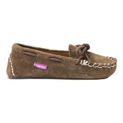 Children's Lamo Sabrina Moccasin Slipper Chocolate