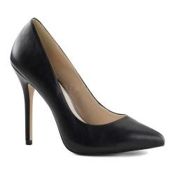Women's Pleaser Amuse 20 Black Leather