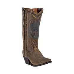 Dan Post Women's Western Boots Heart Breaker Brown Leather