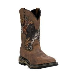 Dan Post Men's Boots Hunter Steel Toe DP69488 Saddle Tan/Mossy Oak Leather