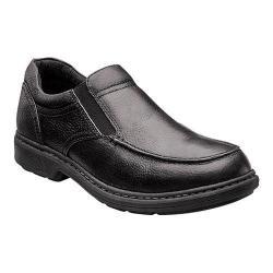 Men's Nunn Bush Webster Moc-Toe Slip-On Black Leather