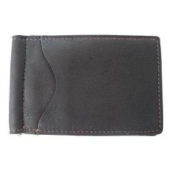 Piel Leather Bi-Fold/Money Clip 9067 Chocolate