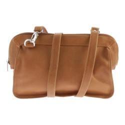 Women's Piel Leather Convertible Handbag/Clutch/Shoulder Bag 3070 Honey