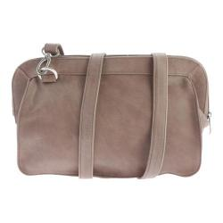Women's Piel Leather Convertible Handbag/Clutch/Shoulder Bag 3070 Toffee