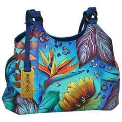 Women's Anuschka Triple Compartment Medium Satchel Tropical Dream