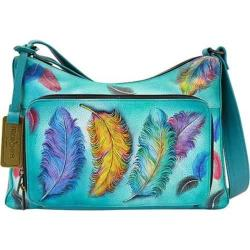 Women's Anuschka Twin-Top East-West Organizer Floating Feathers