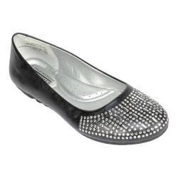 Women's Cliffs by White Mountain Bambina Ballet Flat Black Smooth Synthetic