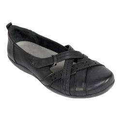 Women's Cliffs by White Mountain Greenwood Flat Black Smooth Synthetic