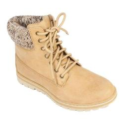 Women's Cliffs by White Mountain Kudrow Cuffed Ankle Boot Wheat Fabric
