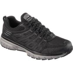 Men's Skechers Geo Trek Trail Shoe Black/Gray