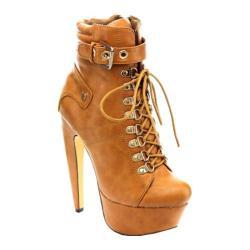 Women's Westbuitti Venisha-MC Platform Ankle Boot Tan