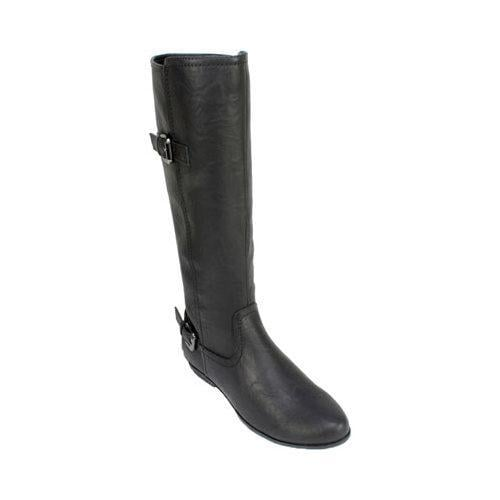 Women's Cliffs by White Mountain Finalist Riding Boot Black Smooth Synthetic