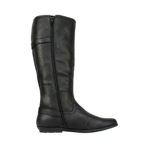 Women's Cliffs by White Mountain Finalist Riding Boot Black Smooth Synthetic - Thumbnail 1