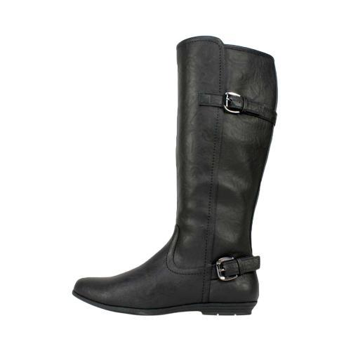 Women's Cliffs by White Mountain Finalist Riding Boot Black Smooth Synthetic - Thumbnail 2