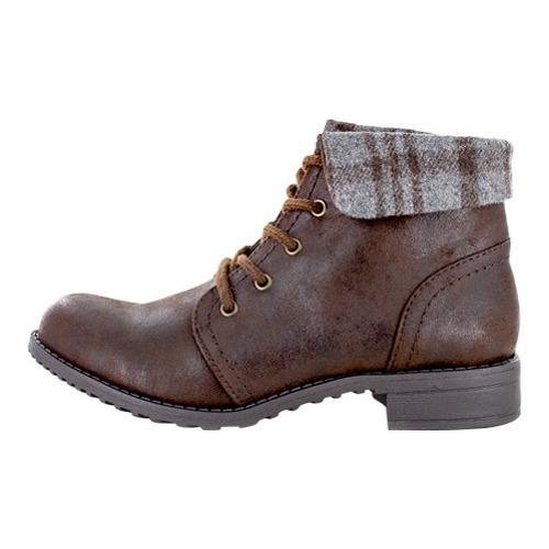 Women's Cliffs by White Mountain Thornhill Cuffed Ankle Boot Brown Fabric - Thumbnail 2