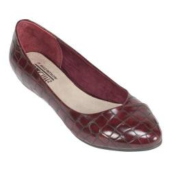 Women's Cliffs by White Mountain Petto Ballet Flat Burgundy Print