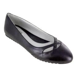 Women's Cliffs by White Mountain Shea Ballet Flat Black Smooth Synthetic