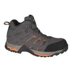 Men's Golden Retriever Footwear 7572 Athletic Safety Hiker Gray Leather/Nylon