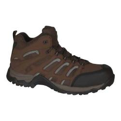 Men's Golden Retriever Footwear 7573 Athletic Safety Hiker Brown Leather/Nylon