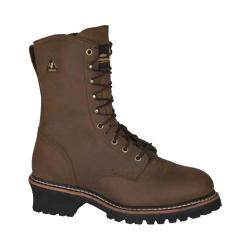 Men's Golden Retriever Footwear 9215 Deluxe 9in Super Logger Brown Crazy Horse Buffalo Leather