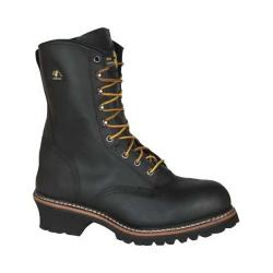 Men's Golden Retriever Footwear 9217 Deluxe 9in Super Logger Black Buffalo Leather