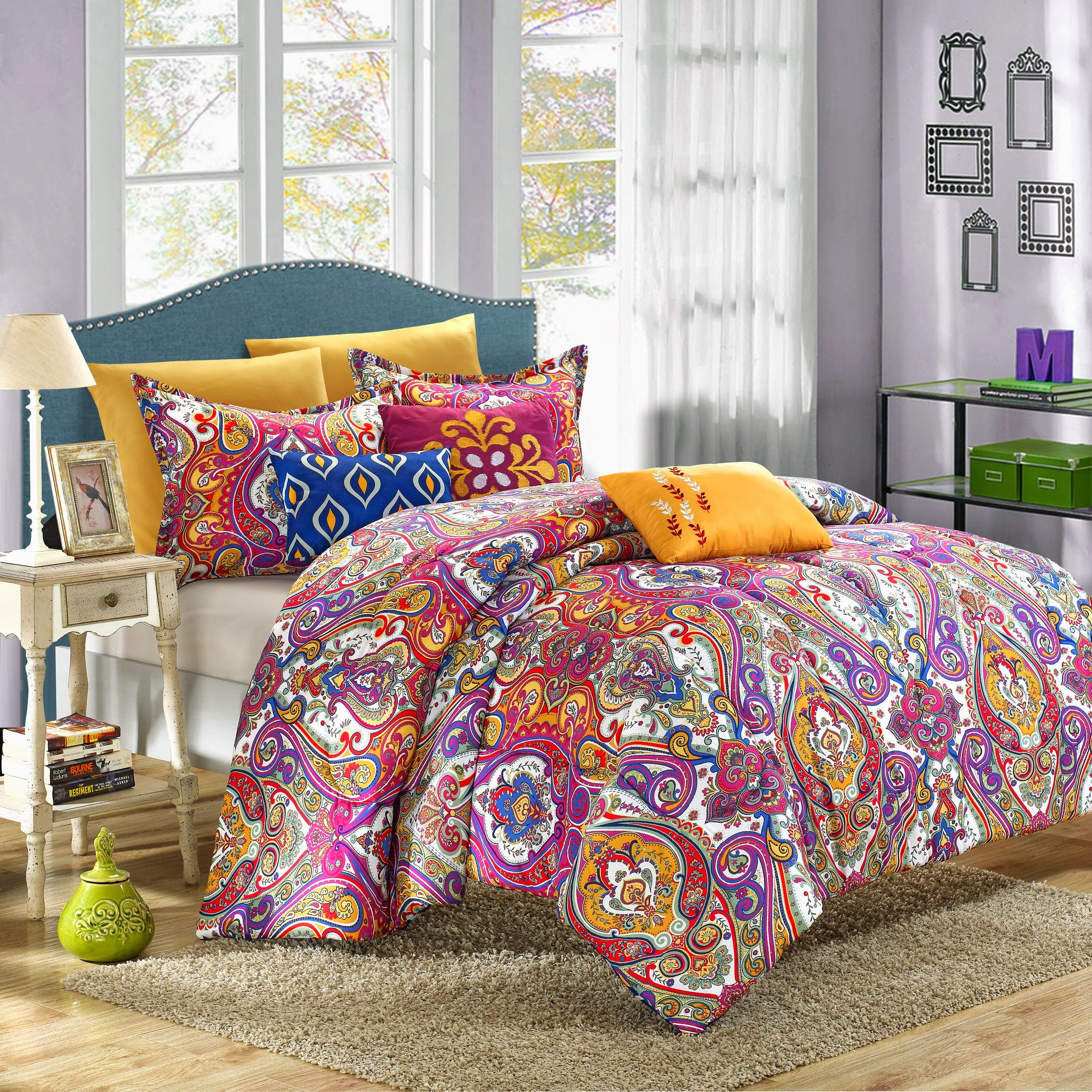 Chic Home Bombay 12-piece Reversible Bed-in-a-Bag with Sheet Set