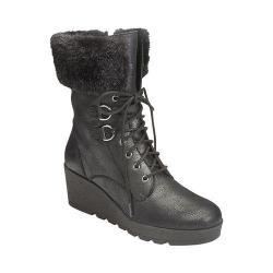 A2 by Aerosoles Women's Color Range Faux Fur Boot Black Combo