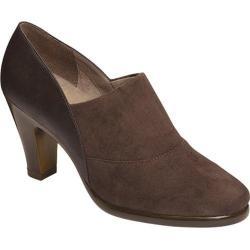 Women's Aerosoles Congress Heel Brown Faux Leather/Faux Suede