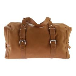 Piel Leather Satchel With Buckles 3030 Honey