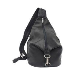 Piel Leather Three Zip Hobo Sling 9931 Black