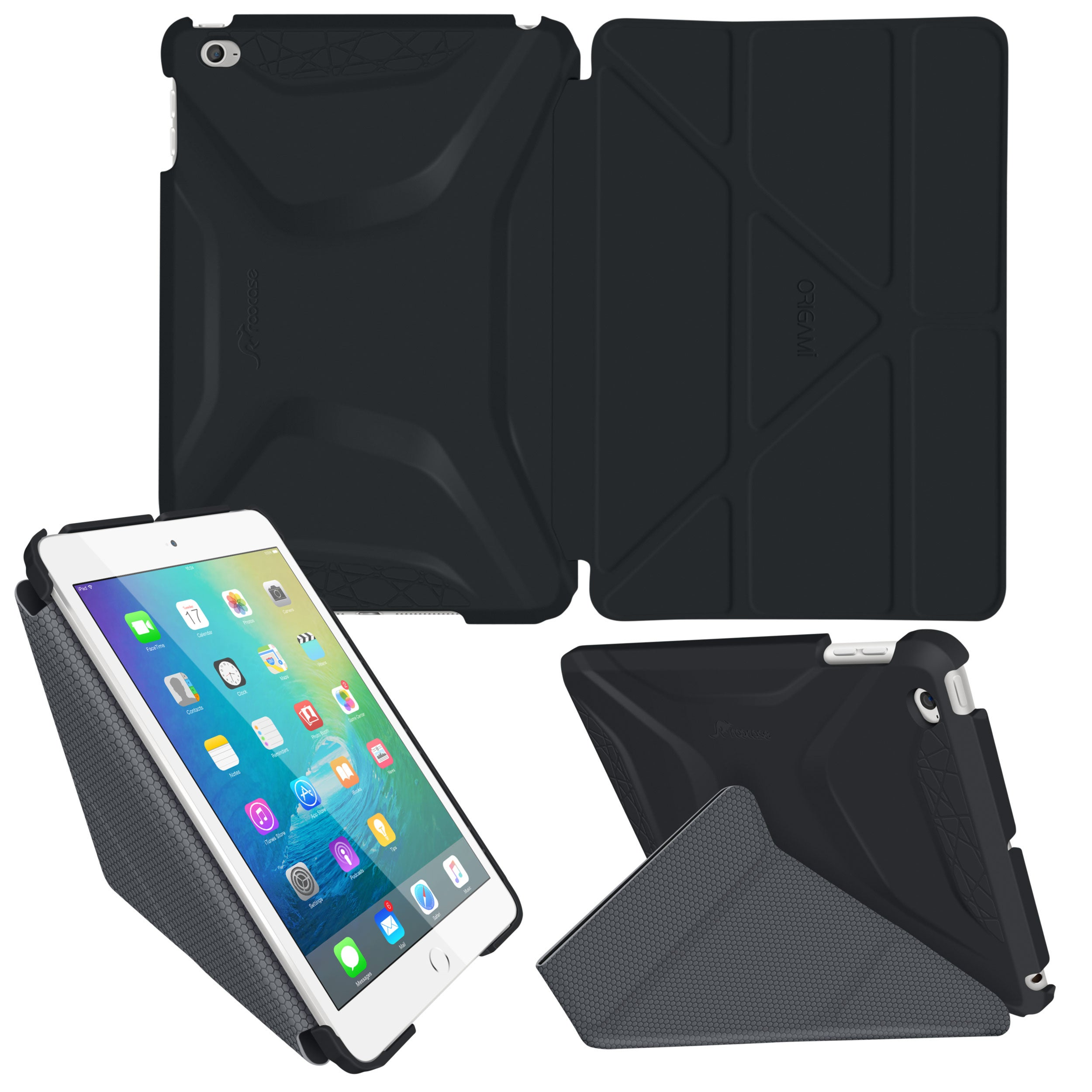 roocase Origami 3D Case for Apple iPad Mini 4