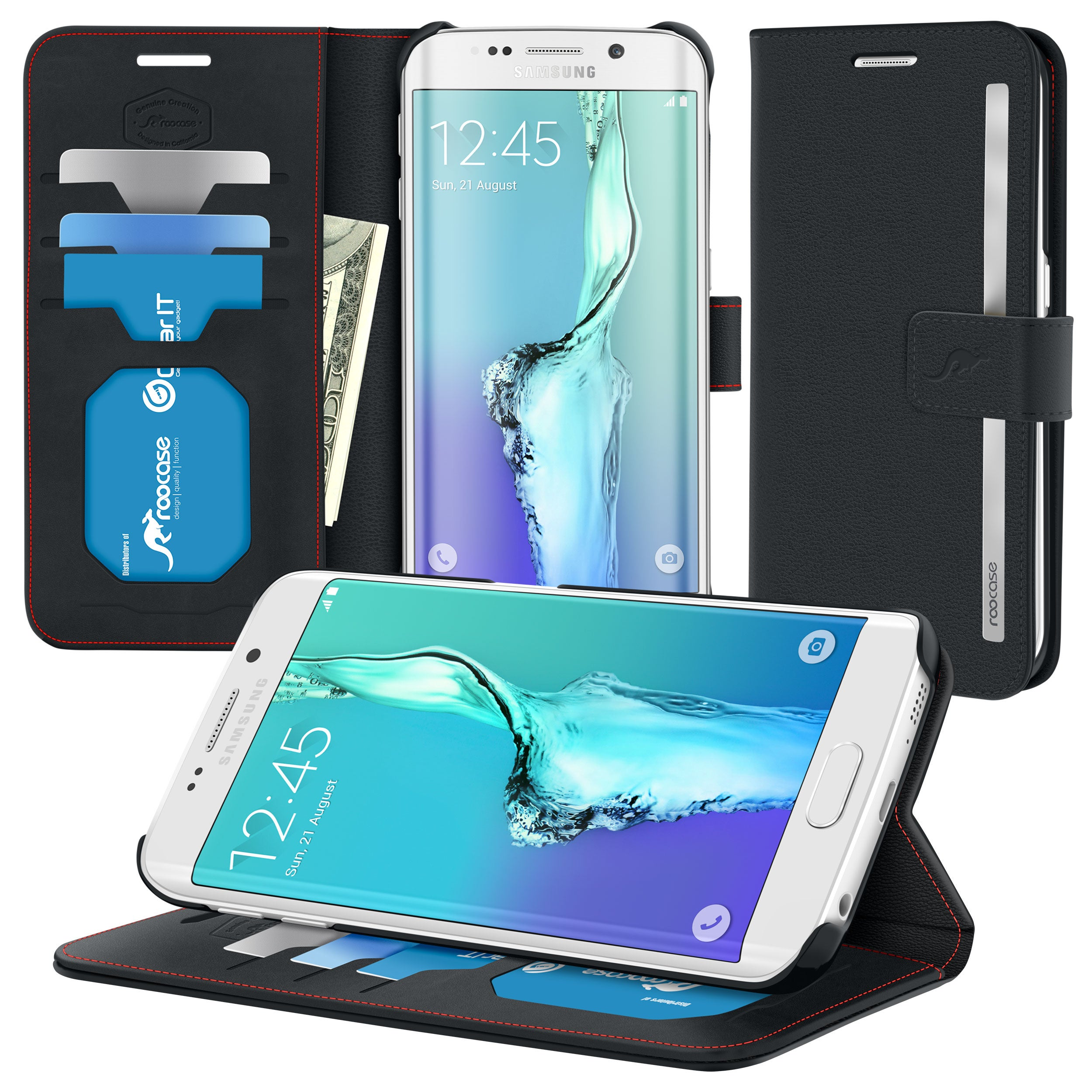 roocase Prestige Folio Case for Samsung Galaxy S6 Edge+