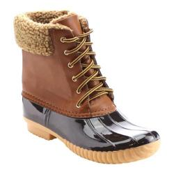 Women's Beston Duck-02 Boot Tan Faux Leather/PVC/Faux Fur