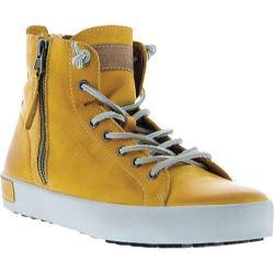 Women's Blackstone JL18 High Top Zipper Sneaker Butterscotch Full Grain Leather