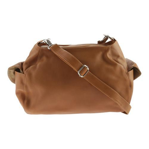 Shop Women s Piel Leather Top-Zip Shoulder Bag Cross Body Hobo 3041 Honey -  Free Shipping Today - Overstock.com - 10631876 f2a72dafb5eec