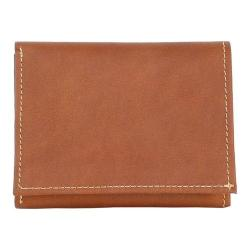 Men's Piel Leather Trifold Wallet 9053 Saddle