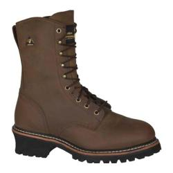 Men's Golden Retriever Footwear 9205 Deluxe 9in Super Logger Brown Crazy Horse Buffalo Leather
