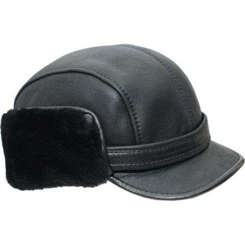 cc26e89e188 Shop Men s Ricardo B.H. H-12N Captain Hat Black - Free Shipping Today -  Overstock.com - 10737340
