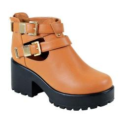 Women's Reneeze 0129JD001 Trendy Platform with Cut Outs Camel PU