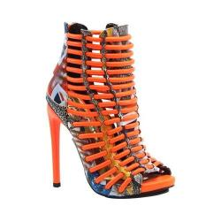 Women's Luichiny Crunch Time Bootie Snake/Orange Leather