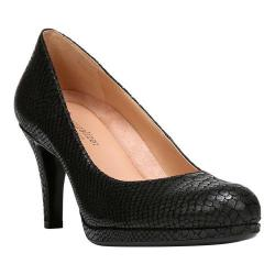 Women's Naturalizer Michelle Pump Black/Pewter Snake Print Shimmer