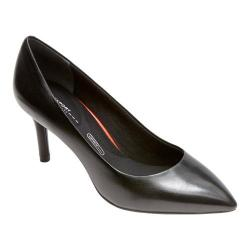 Women's Rockport Total Motion 75mm Pointy Pump Black Smooth Soft Sheep Nappa Leather